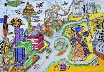 Plan Urbain D Une Villi Futuriste