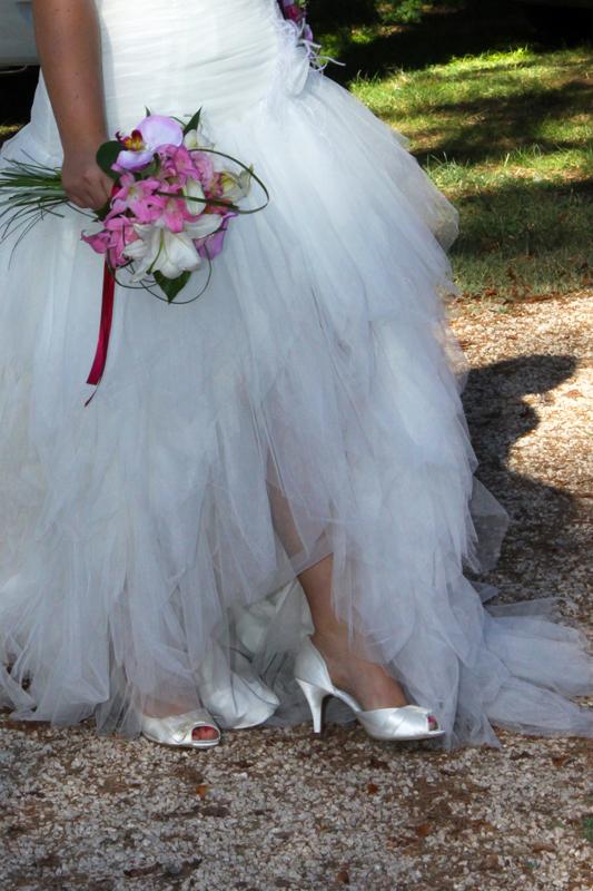 Photographe mariage l'Isle Jourdain - Détail de la robe de mariée
