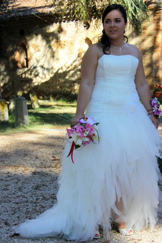 Photographe mariage l'Isle Jourdain - La mariée au parc