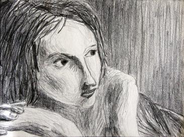 Cours arts plastiques adulte Toulouse - Portrait crayon/1