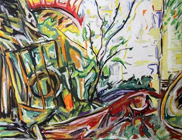 Cours arts plastiques adulte Toulouse - Paysage pastel sec