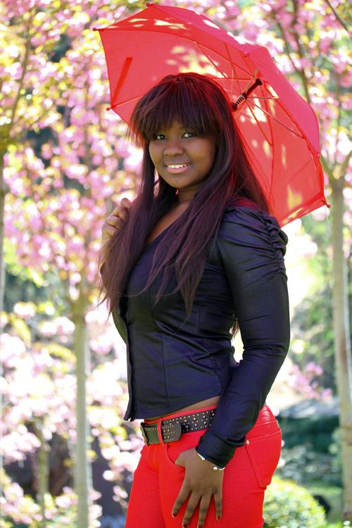 Portrait au parapluie