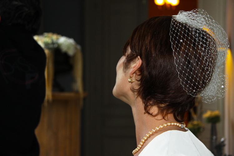 Photographe mariage Auch - La mariée vue de dos