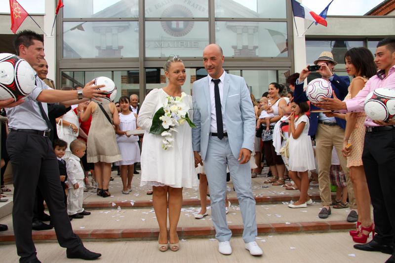 Photographe mariage Albi - La sortie des mariés
