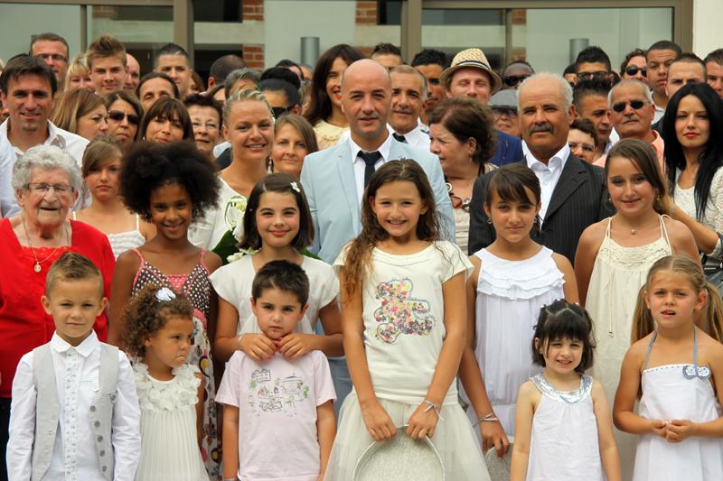 Photographe mariage Albi - Les invités avec les mariés