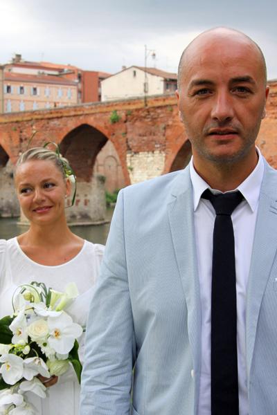 Photographe mariage Albi - Le marié devant