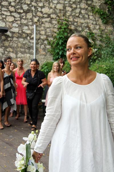 Photographe mariage Albi - La mariée au premier plan