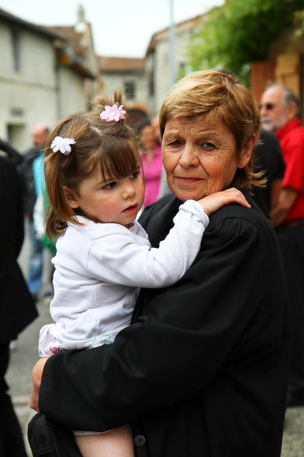 La grand mère et sa petite fille