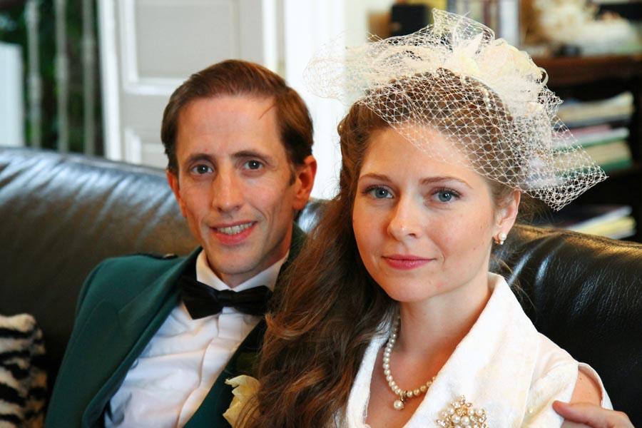 Photographe mariage Castelsarrasin / Couple pendant le vin d'honneur