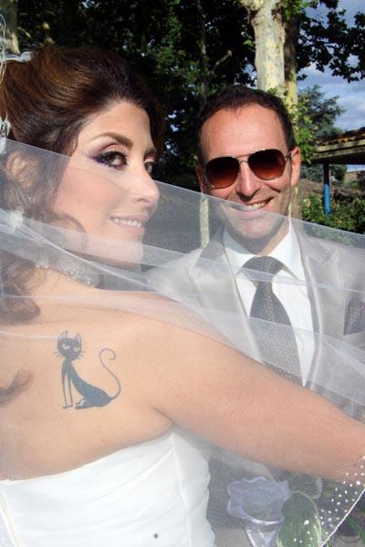photographe mariage Toulouse - Les mariés avec le voile