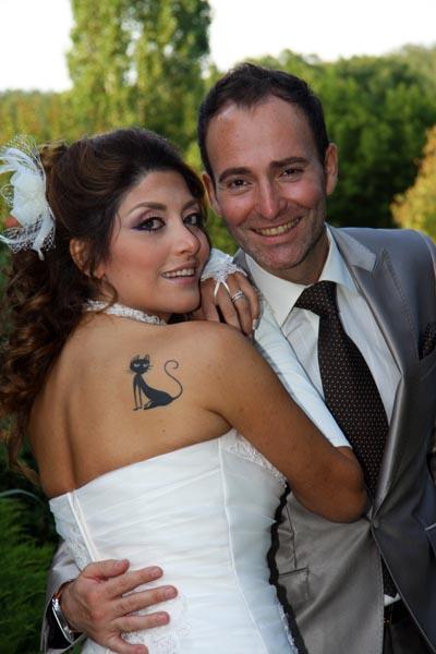 photographe mariage Toulouse - Les mariés au vin d'honneur