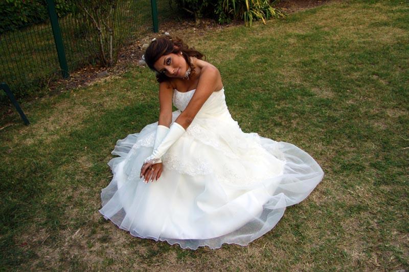 photographe mariage Toulouse - La mariée au jardin