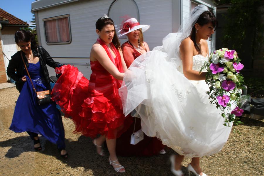 Photographe mariage Muret /  Le cortège