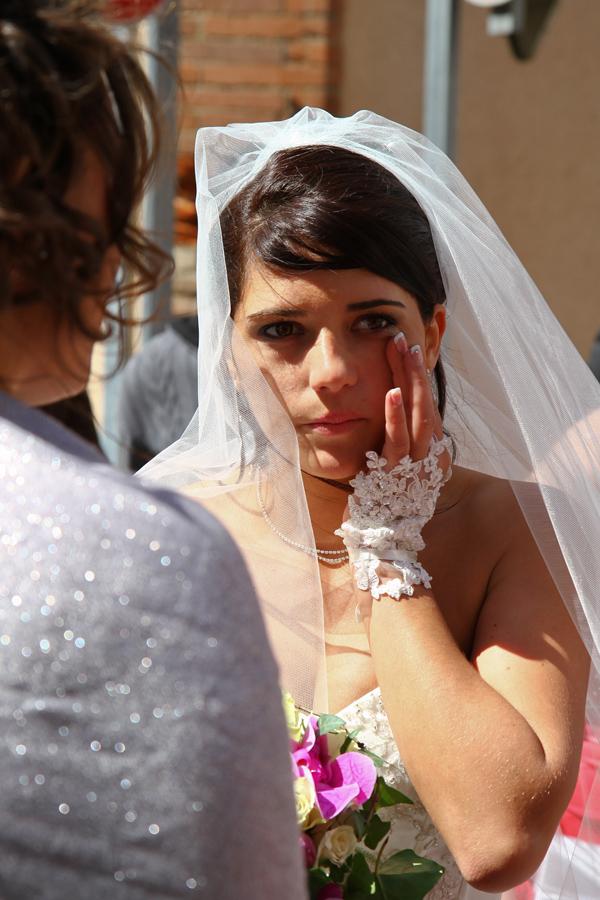 Photographe mariage Muret / Une larme