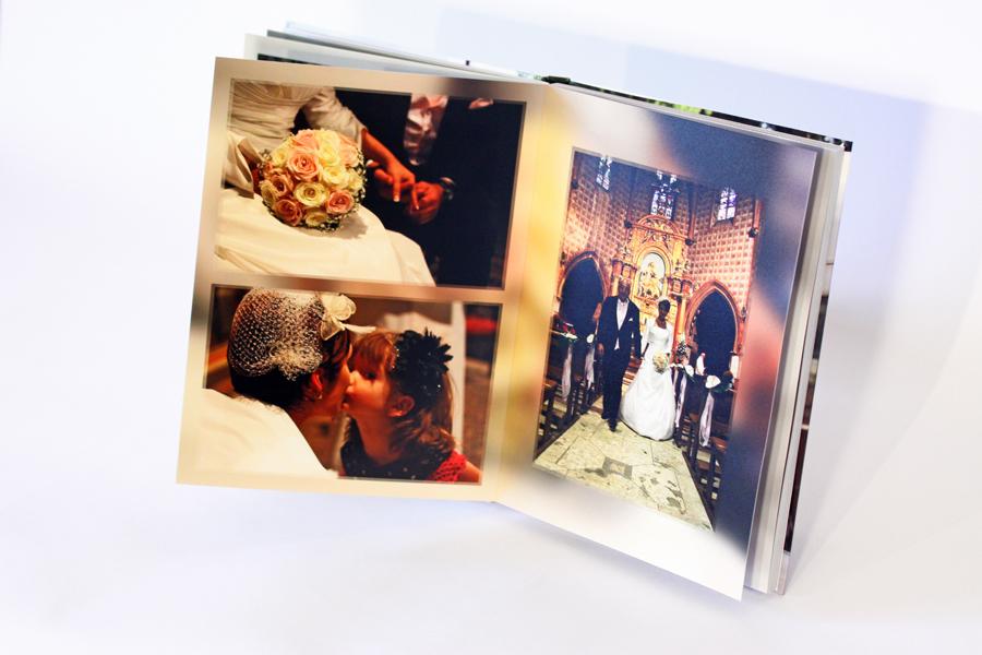 Album de mariage page église