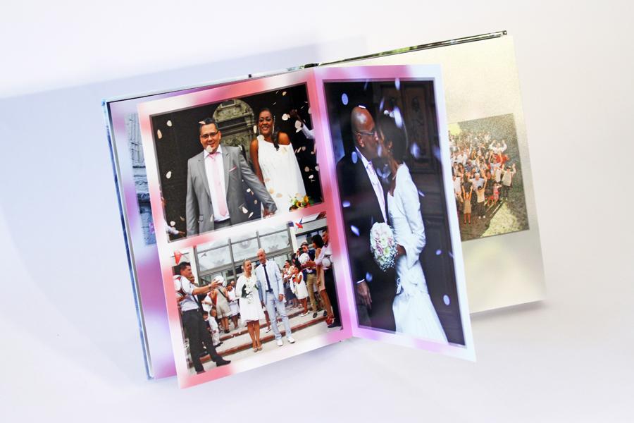 Album de mariage, la sortie d'église