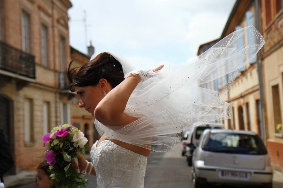 Photographe mariage Muret / Le voile