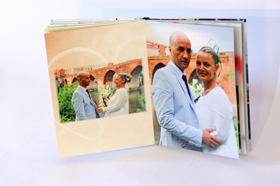 Album de mariage, page portrait