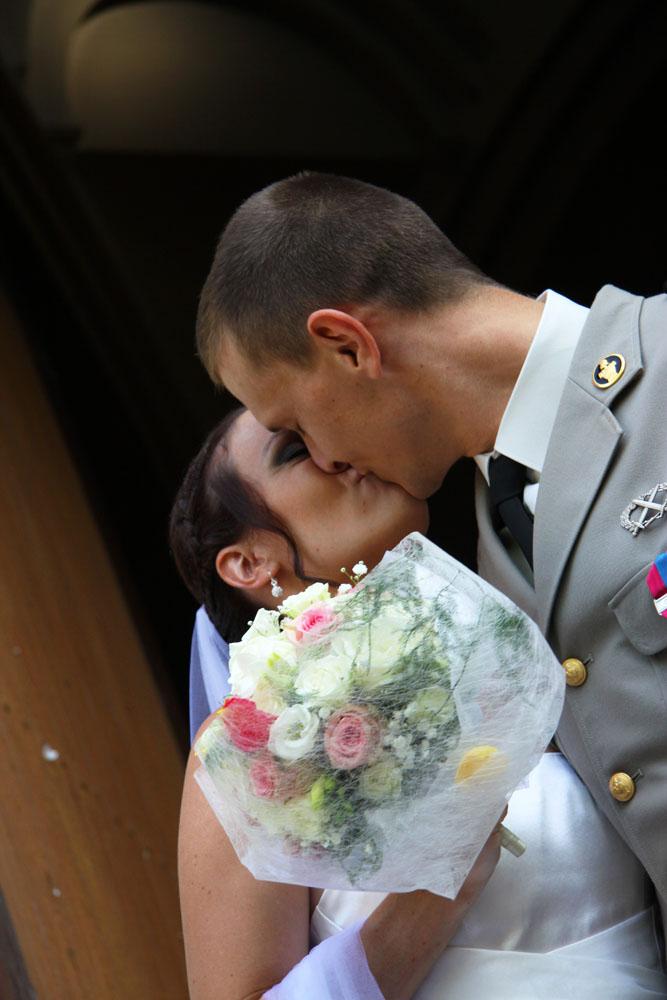 Photographe mariage Montauban - Le baiser des mariés