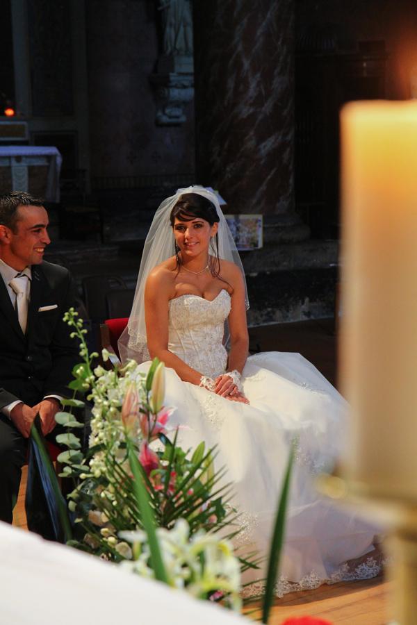 Photographe mariage Muret / Les mariés à l'église