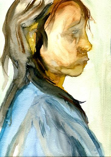 Cours arts plastiques adulte Toulouse - Portrait aquarelle