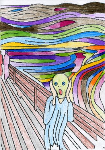 Cours arts plastiques enfant Toulouse - Munch
