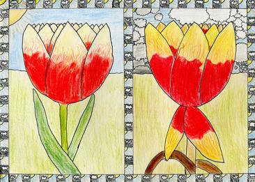 Cours arts plastiques enfant Toulouse - Crayon de couleur/1