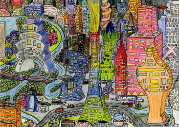 Cours arts plastiques enfant Toulouse - Ville du futur/3