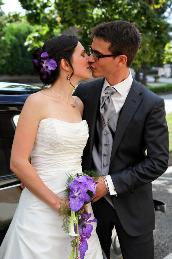 Photographe mariage Fronton / Un baiser