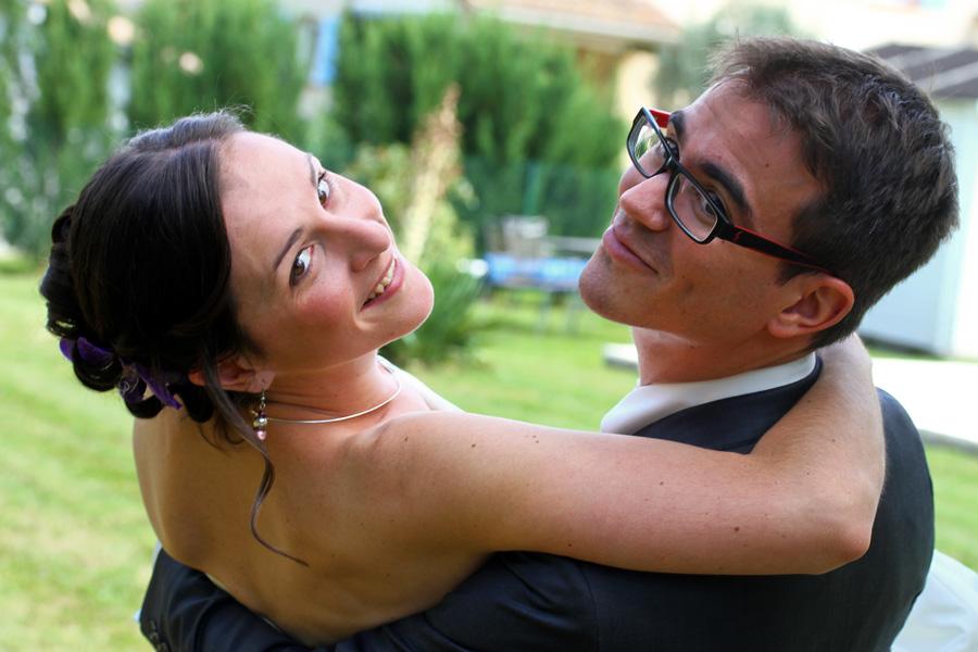 Photographe mariage Fronton / Couple et sourire