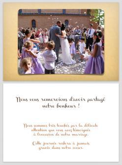 Carte de remerciement papier