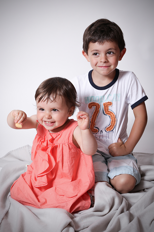enfants au studio photo